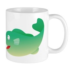 Green Fish Kids Shirt Mug