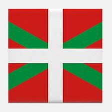 The Ikurriña, Basque flag Tile Coaster
