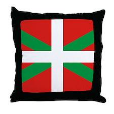 The Ikurriña, Basque flag Throw Pillow