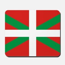 The Ikurriña, Basque flag Mousepad
