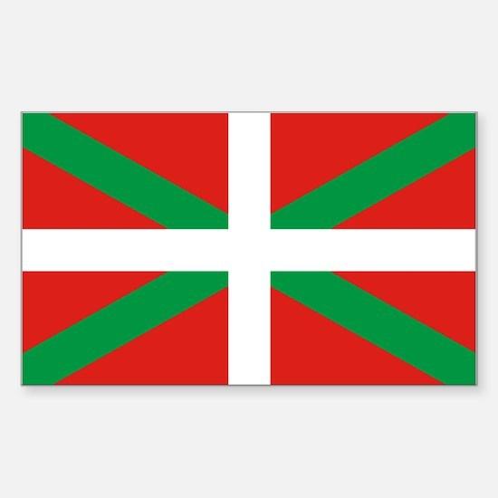 The Ikurriña, Basque flag Sticker (Rectangle)