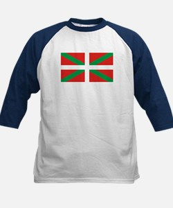 The Ikurriña, Basque flag Kids Baseball Jersey