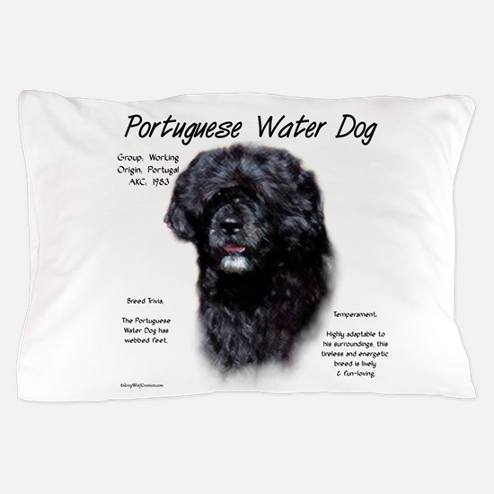 Portuguese Water Dog Pillow Case