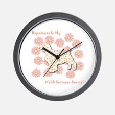 Welshie Happiness Wall Clock