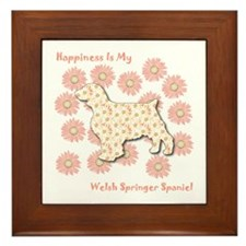 Welshie Happiness Framed Tile