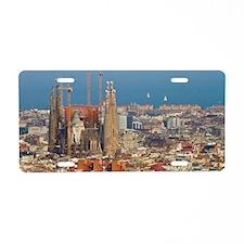 Sagrada Familia Aluminum License Plate