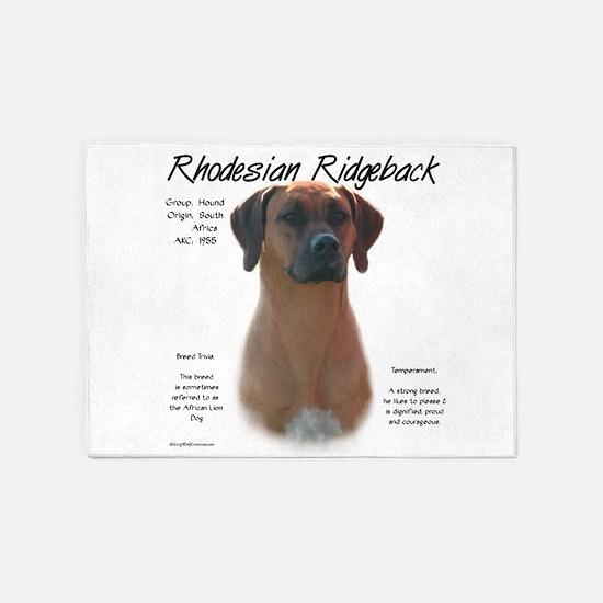 Rhodesian Ridgeback 5'x7'Area Rug