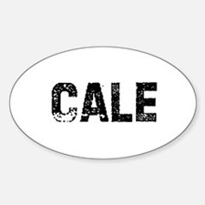 Cale Oval Decal