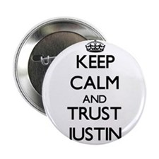 """Keep Calm and TRUST Justin 2.25"""" Button"""