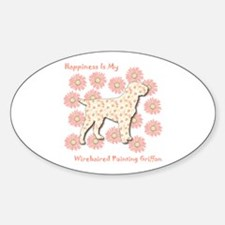 Griffon Happiness Oval Decal