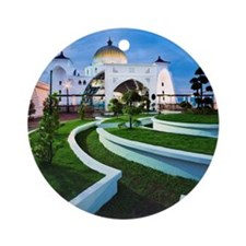 Malacca straits mosque Round Ornament