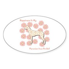 PIO Happiness Oval Decal