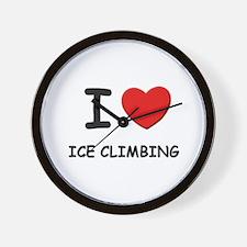 I love ice climbing  Wall Clock