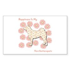 Norrbottenspets Happiness Rectangle Decal