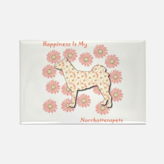 Norrbottenspets Happiness Rectangle Magnet (100 pa