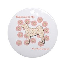 Norrbottenspets Happiness Ornament (Round)