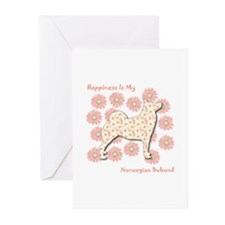 Buhund Happiness Greeting Cards (Pk of 10)