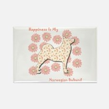 Buhund Happiness Rectangle Magnet (100 pack)