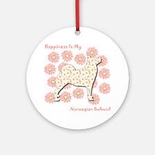 Buhund Happiness Ornament (Round)