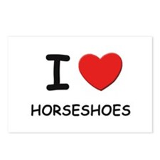 I love horseshoes  Postcards (Package of 8)