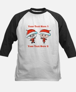 Santa Couple and Text Baseball Jersey