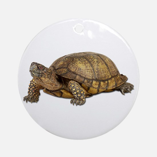 Box Turtle Ornament (Round)