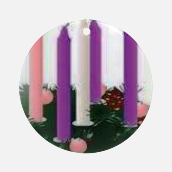 Advent Candles Round Ornament