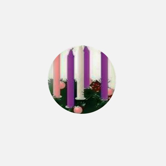 Advent Candles Mini Button