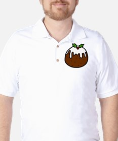 'Xmas Pudding' Golf Shirt