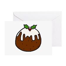 'Xmas Pudding' Greeting Card