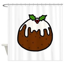 'Xmas Pudding' Shower Curtain