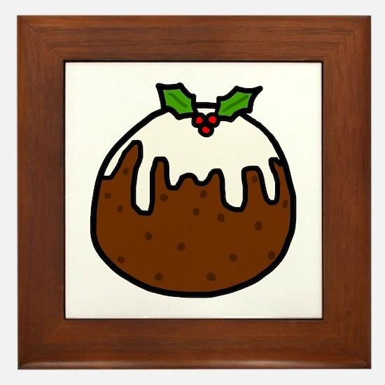 'Xmas Pudding' Framed Tile