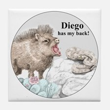 Diego has my back! Tile Coaster