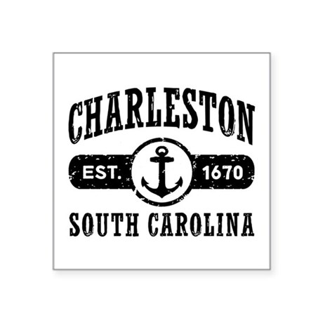 "Charleston SC Square Sticker 3"" x 3"""