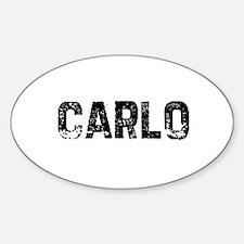 Carlo Oval Decal