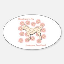 Lundehund Happiness Oval Decal