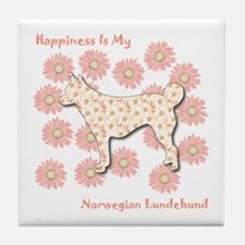 Lundehund Happiness Tile Coaster