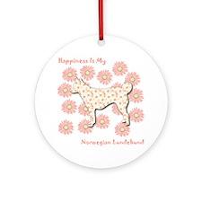 Lundehund Happiness Ornament (Round)