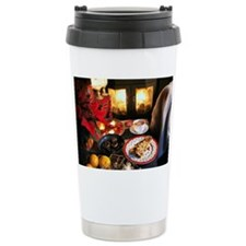 Christmas Fireplace Travel Mug