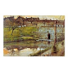 Carl Larsson: El Estanue  Postcards (Package of 8)