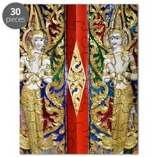 Skillfully designed temple doors Puzzle