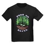 Peas On Earth Kids Dark T-Shirt