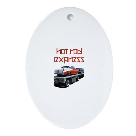 Hot Rod Express Oval Ornament
