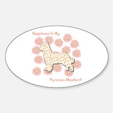 Pyrenean Happiness Oval Decal