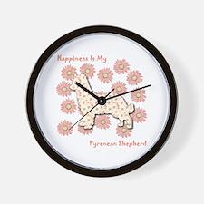 Pyrenean Happiness Wall Clock