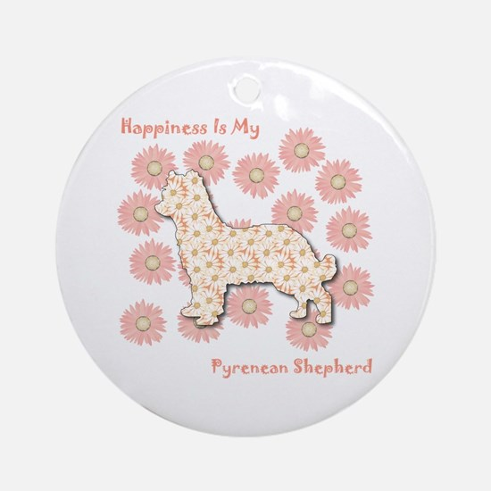 Pyrenean Happiness Ornament (Round)