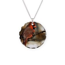Male northern cardinal Necklace