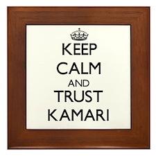 Keep Calm and TRUST Kamari Framed Tile