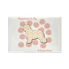 Schapendoes Happiness Rectangle Magnet