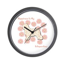 Schapendoes Happiness Wall Clock
